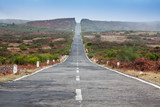 Empty never ending road in the island Madeira poster