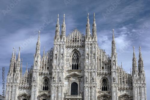 Keuken foto achterwand Dam Facade of Cathedral Duomo, Milan
