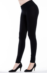 Woman legs with leggings