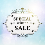 winter special sale retro poster
