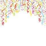 Streamers & Confetti Background