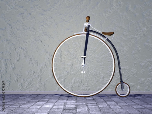 Vintage bicycle - 3D render