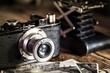 Leinwandbild Motiv antiche macchine fotografiche
