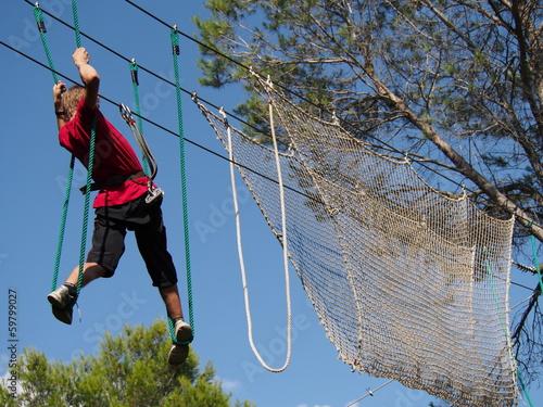 canvas print picture Parcours acrobatique en hauteur