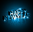 Background for New year text shiny blue colorful vector design