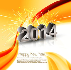 Vector Celebration shiny for wave 2014 new year reflection holid
