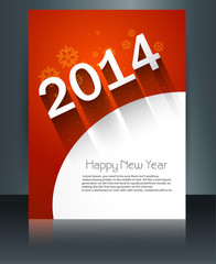 Template vector brochure New Year 2014 colorful design