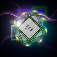 power processor abstract background