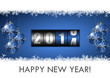 2014 new year vector illustration with counter