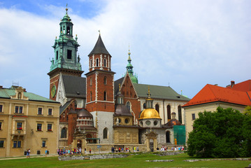 Wawel Cathedral on the Wawel Hill in Krakow (Cracow)