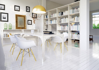Weiße loft wohnung - luxury white loft apartment