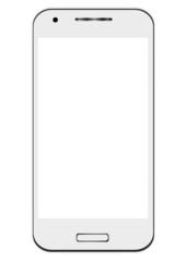 Smartphone tendance avec écran vide
