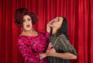 Man Harrassing a Transvestite