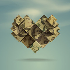 Heart. Dollar. Vector Format