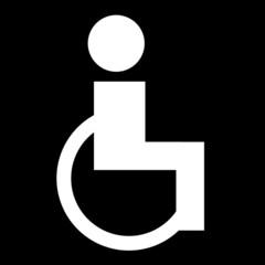 Piktogramm WC für Rollstuhlfahrer