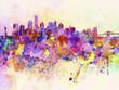 Obrazy na płótnie, fototapety, zdjęcia, fotoobrazy drukowane : New York skyline in watercolor background