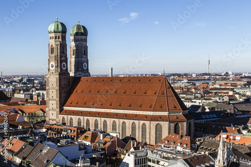 The Church of Our Lady (Frauenkirche) in Munich (Germany, Bavari