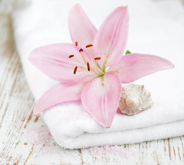 Spa Towel with flower
