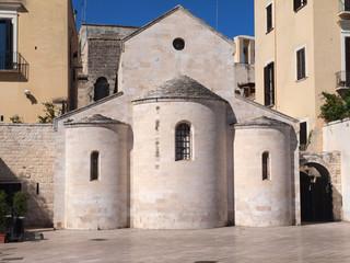 Church in Ferrarese Square, Bari, Italy.
