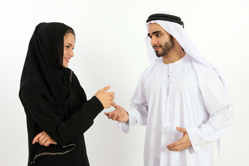 Arabic Couple Having A Good Time