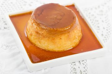Pudim de Leite - Brazilian flan topped with caramel sauce