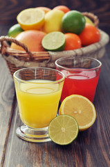Citrus juice and fruits
