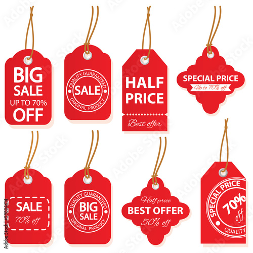 Sale labels set in vector.