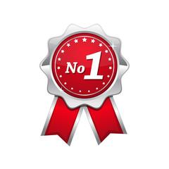 No 1 Red Seal vector Icon