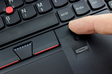Laptop fingerprint reader