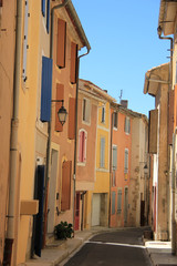 Colored houses in the Provence
