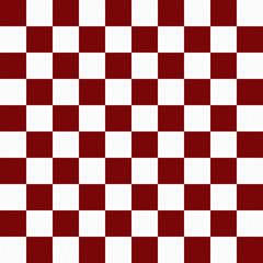 Dark Red and White Checkers on Textured Fabric Background