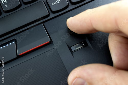 Laptop fingerprint reader 2