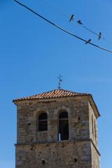 Golondrinas y Torre de Iglesia
