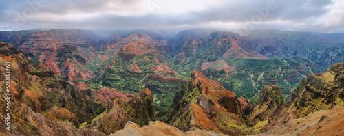 In de dag Canyon Waimea Canyon in Kauai, Hawaii Islands.