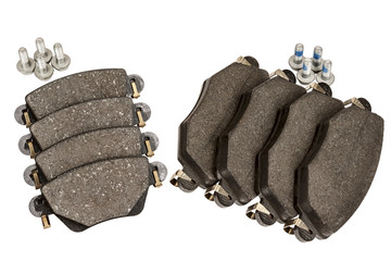 Brake pad set with screws