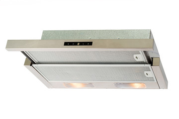 Metallic cooker hood