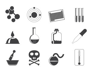 Silhouette Chemistry industry icons