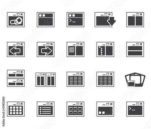 Silhouette Application, Programming, Server and computer icons