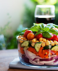 Fresh Layered Chickpea Salad