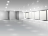Fototapety Light conference room or office open space interior