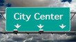 City Center Freeway Sign Time Lapse