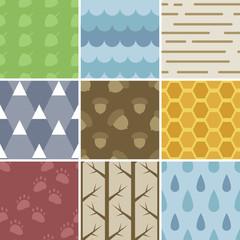 Pastel Nature Patterns