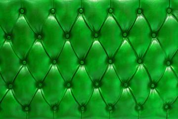 Fondo de textura de cuero natural acolchado en color verde