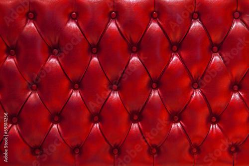 Papiers peints Tissu Fondo de textura de cuero natural acolchado en color rojo