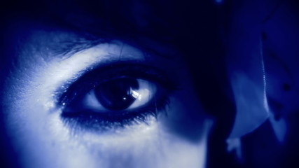 Eye macro woman retro blue