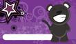 cute happy black cat wallpaper vector