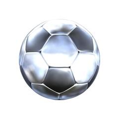 Fußball silber - einfach