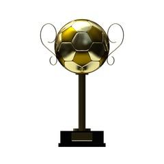 Fußballtrophäe gold - orthografisch front