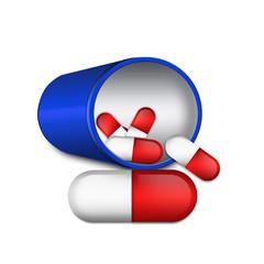 Medical capsule illustration , isolated on white background