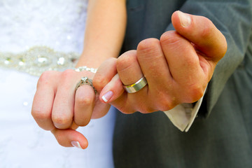 Pinky Swear Wedding Rings